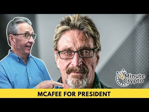 John McAfee to Promote Crypto in 2020 Presidential Race