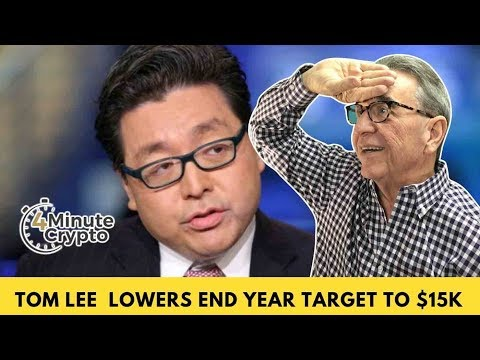 Tom Lee Lowers End Year Target For Bitcoin To $15,000