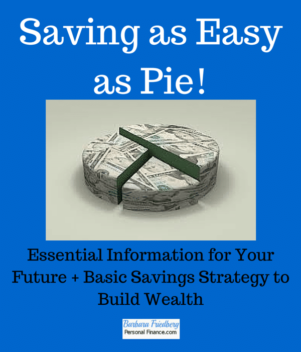 Savings: Easy As Pie! Basic Savings Strategy
