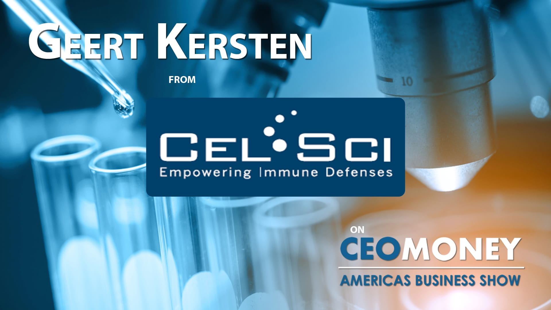 Geert Kersten from CEL-SCI on their novel immuno-oncology treatment Multikine